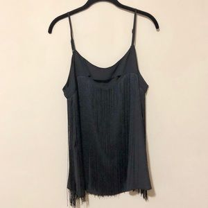 Adorable Nordstrom Fringe Tank with Cutout Sz XL